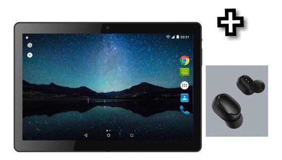 Tablet M10a Lite 3g Android 7.0, Tela 10 Preto + Fone Xiaomi