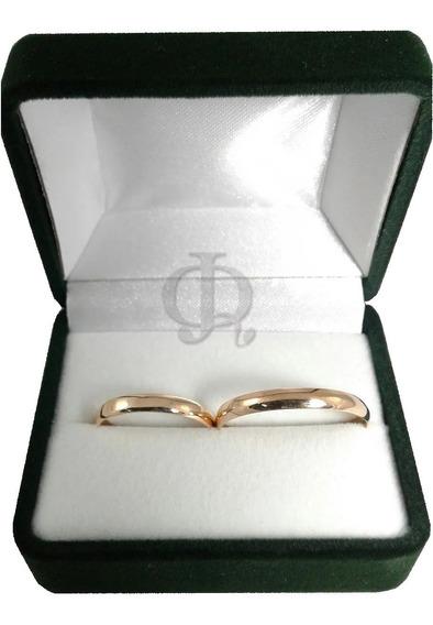 Par Alianzas Oro 18k Casamiento Clasicas 3 Grs Garantia Jr