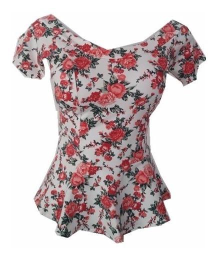 Blusa Peplum Babado Com Bojo Ciganinha Feminino Camiseta