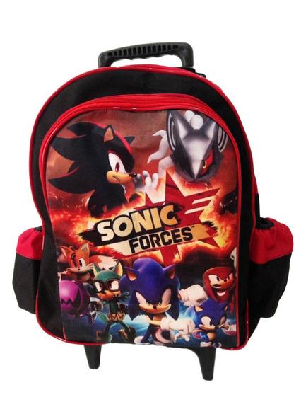Mochila Sonic Com Rodinhas