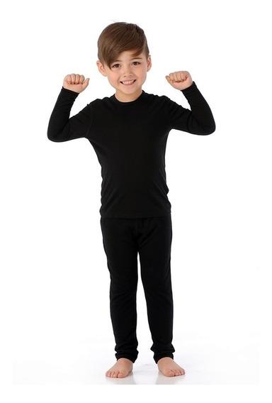 Blusa Segunda Pele Térmica Infantil Para O Frio + Proteção