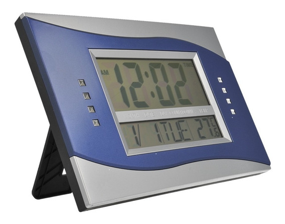 Reloj Digital De Mesa Buro Con Alarma Cuadrado