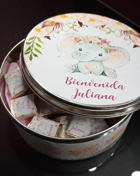 Lata Souvenir Con 50 Chocolatines Personalizados