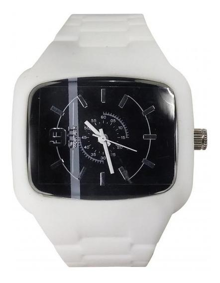 Relógio Pulso Air Watch Pulseira De Silicone Branco M12