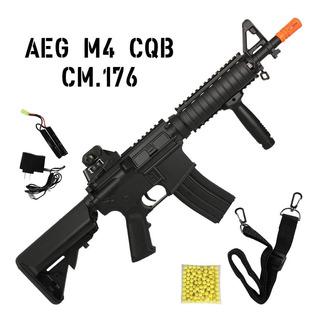 M4a1 Cqb Rifle Airsoft Elétrico Cyma Cm716 Bivolt 300fps 6mm