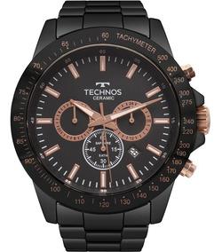 Relógio Technos Masculino Ceramic Original Nota Js25bu/4p