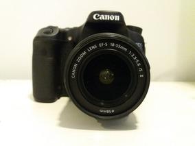 Canon 70d Lente 18x55 Mm Semi Nova Acessórios Originais