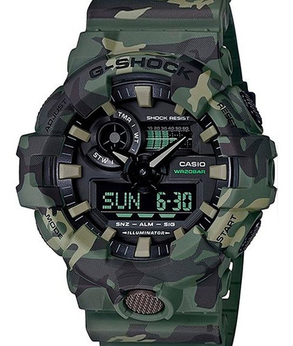 Relógio Casio Masculino G-shock Camuflado Ga-700cm-3adr