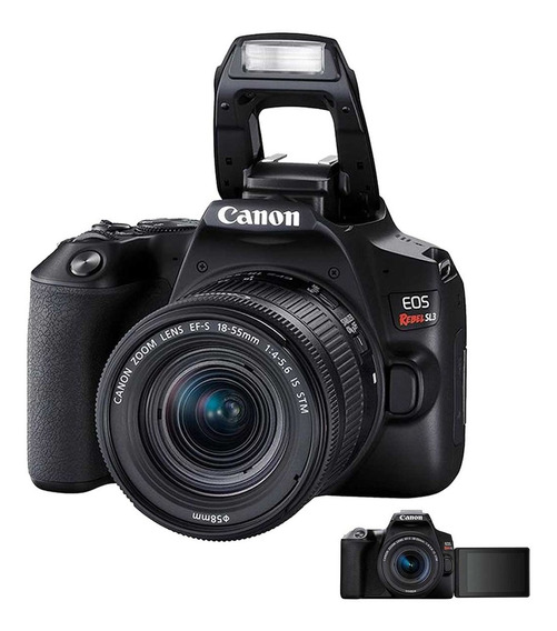 Câmera Profissional Dslr Canon Eos Rebel Sl3 Com Wifi 24.1mp