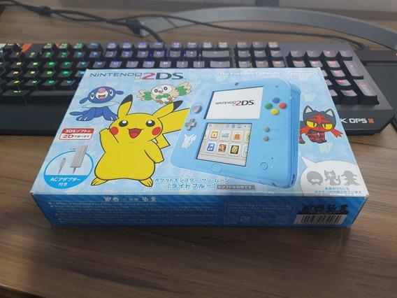 Nintendo 2ds Pokemon Edition Blue Azul Japonês Pikachu