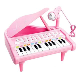 Piano Electrónico, 24 Teclas, Micrófono Y Taburete, Juguete