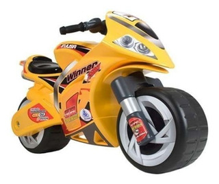 Moto Correpasillos Montable Infantil Winner Amarilla Injusa
