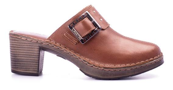 Zapatos Mujer Zuecos Plataforma Y Taco Cavatini Cuero Vacuno