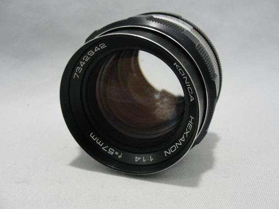 Lente Konica Hexanon 1:1.4 F=57mm Camera Fotografica