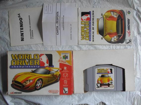 World Drive Championship Na Caixa & Manual Para Nintendo 64