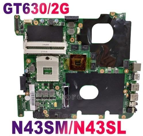 Placa Mãe Notebook Asus N43sm / Nvidia 630gt 2gb/ Nova