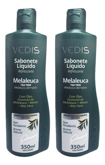 Sabonete Líquido Tea Tree Oil Melaleuca 2 X 350ml - Vedis