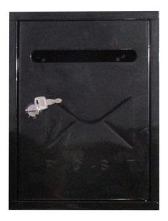 Buzon Buzonera Metalica Cartas 22x26cm Negro
