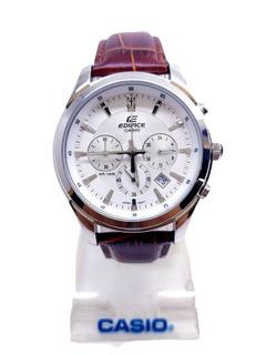 Reloj Casio Edifice Hombre Crono Cuero Tienda Oficial