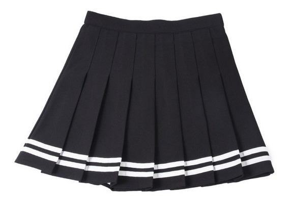 Falda Plisada Tenis Cintura Raya Harajuku Colores