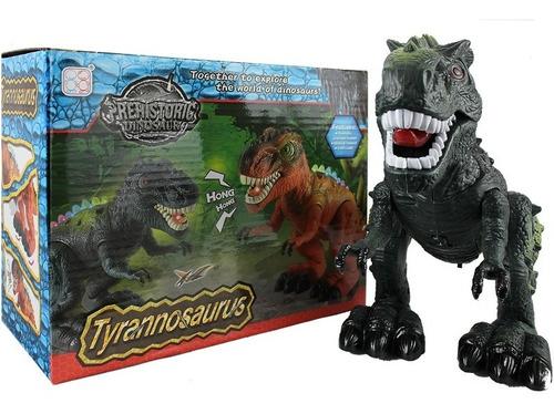 Imagen 1 de 6 de Tiranosaurio Dinosaurio Juguete Luces Sonido Y Movimientos