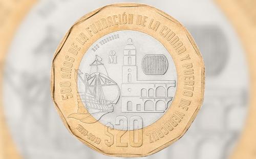 Imagen 1 de 1 de Moneda De 20 Conmemorativa