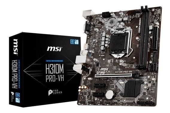 Motherboard Msi H310m Pro Vh 8va Gen Intel 1151 H310 1