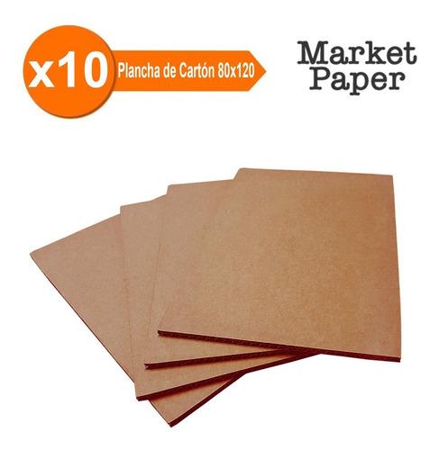 Planchas De Carton Pallet Divisor 0.80x1.20 Mts X10