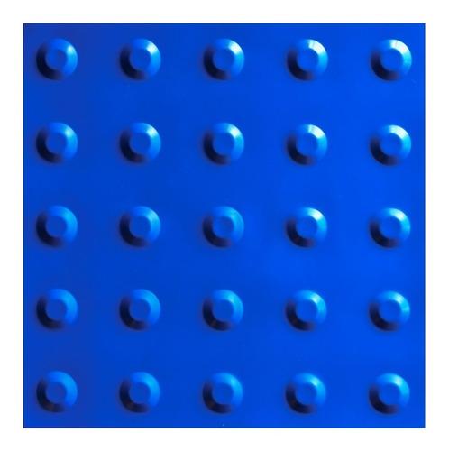 Imagem 1 de 1 de 20pçs Piso Tátil Alerta Azul 25x25cm Pvc