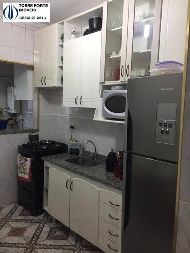 Imagem 1 de 15 de Lindo Apartamento Com 2 Dormitórios E 1 Vaga Em Jordanopolis Em Sbc - 1408
