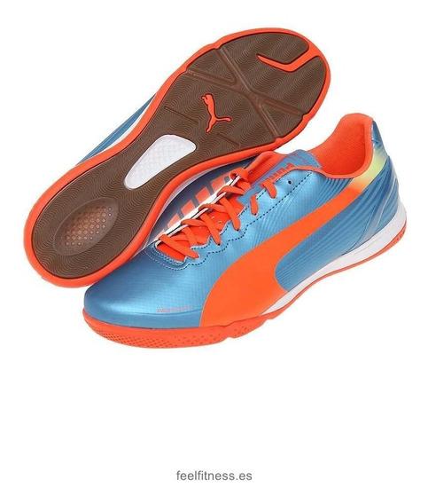 Tenis Puma Evospeed 4.2lt Piel Blue Shark Nuevo 26.5