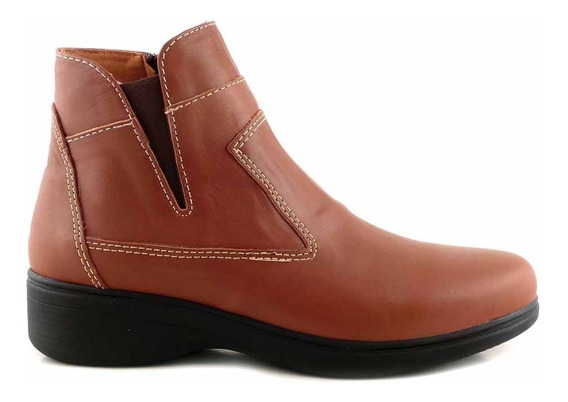 Bota Mujer Cuero Briganti Goma Zapato Botineta - Mcbo24878