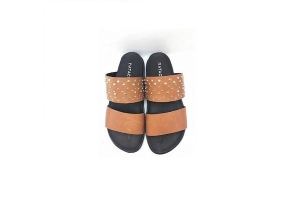 Zapato Mujer Sandalia Natacha Chata Cuero Suela #210