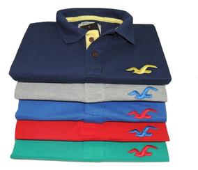 Kit C/07 Camisa Gola Masculina 12 Cores Produto Novo