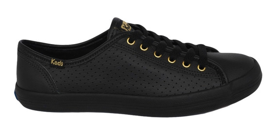 Tênis Keds Kickstart Perf Leather Preto Kd81000134