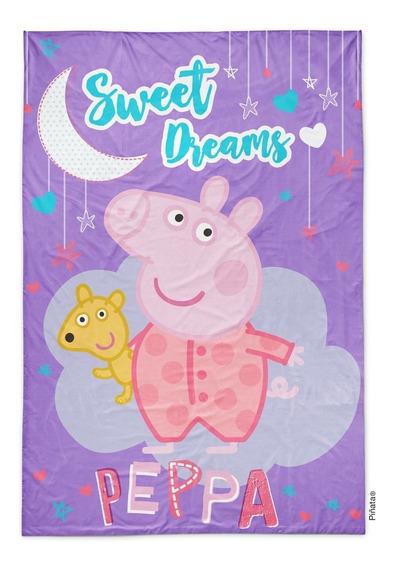 Piñata Frazada Flannel 1 1/2 Peppa Pig Sweet Dreams