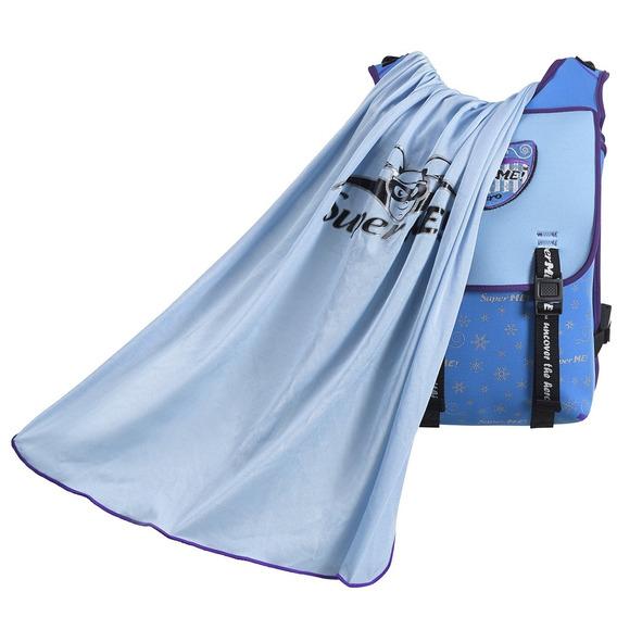 Mochila Icy Power Cape Para Niños Supreme Azul Y Plateada, L