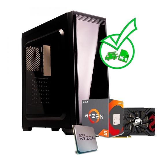 Computador Gamer Ryzen 5 2600 + Rx 570 4gb + Ssd + Hd+extras