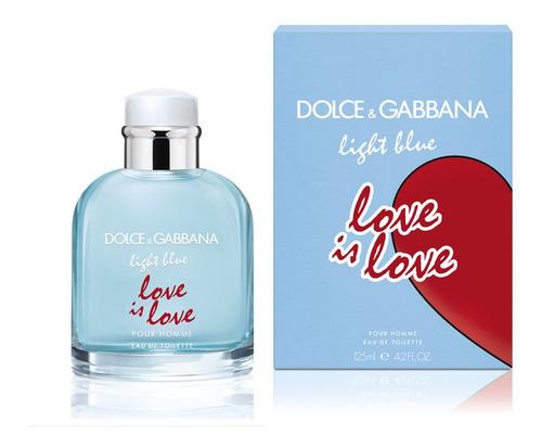 Imagen 1 de 4 de Dolce & Gabbana Light Blue Pour Homme Love Edition Edt 125ml