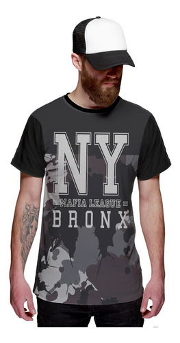 Imagem 1 de 2 de Camiseta New York Mafia League Bronx Camuflada Ny