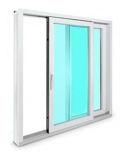 Ventana De Pvc Con Cristal Termopanel - Puerta Corredera