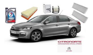Kit 3 Filtros Orig + Aceite Citroen C-elysee 1.6 Vti