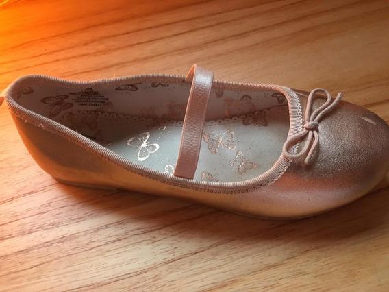 Chatitas Ballerinas H&m Rosa Gold Usadas Casi Nuevas 19,5 Cm