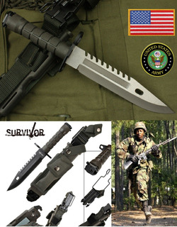 Faca Tatica Combate Militar Baioneta M9 - Aqui - C/ Nfe