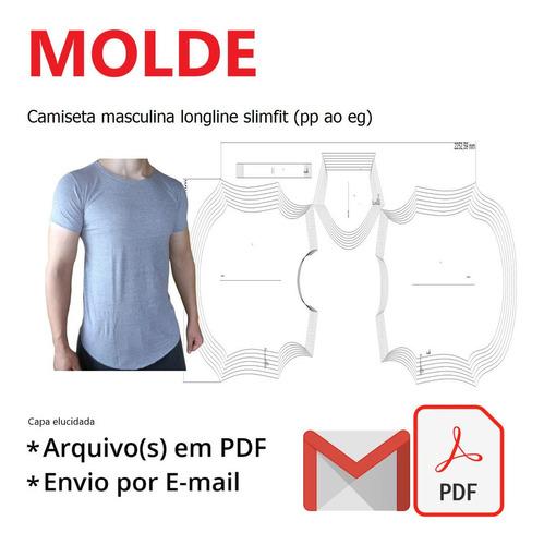 Camiseta Masculina Longline Slimfit (pp Ao Eg)