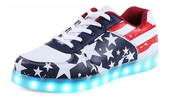 Zapatos Caballeros Con Luces Led - Talla 37