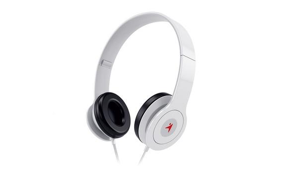 Headphone Dobrável Com Microfone Controle De Volume Branco