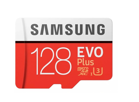 Cartão Samsung Micro Sd Evo Plus 128gb 100mb/s U3 4k+adapter