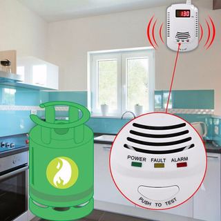 Detector De Fugas Gas Lp Natural Propano Alarma De Fuga Gas