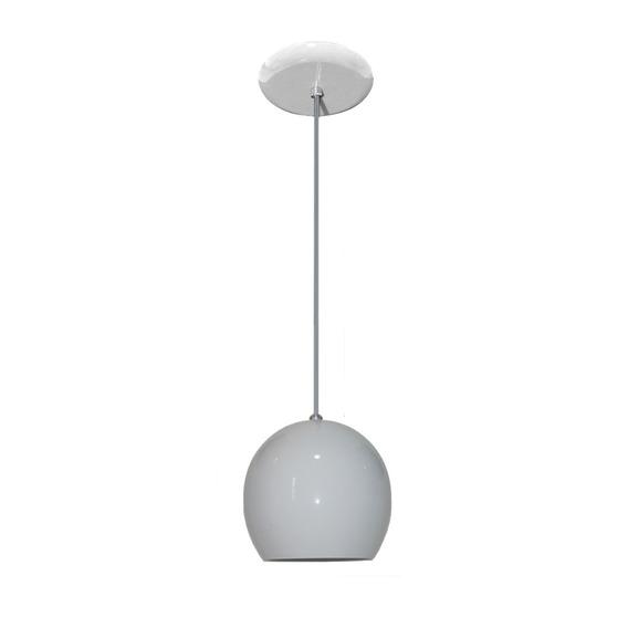 Luminaria Colorida Modelo Bolinha - 14cm X 15cm - Branco
